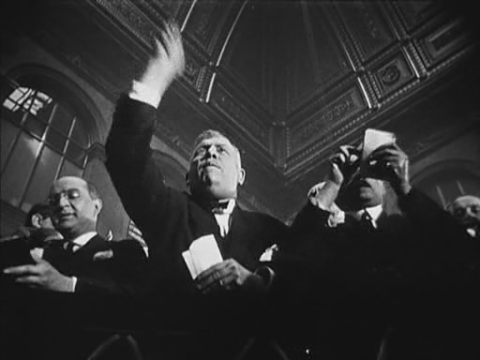'Traders on the Trading Floor' (still from L'Argent, 1928)