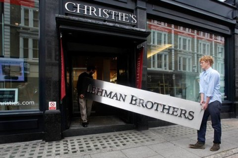 Lehman Brothers Auction at Christies, London, August 2010 (photograph by Linda Nylind/Guardian Newspapers)