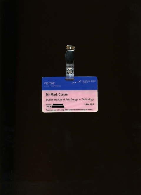 Void Visitors Pass, Eschborn, Frankfurt, Germany, March 2012