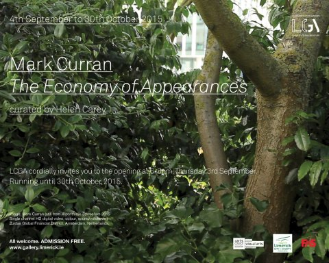 LCGA e-vite The Economy of Apperances Mark Curran curated by Helen Carey